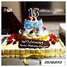 Raspberry White Chocolate mudcake. Specially baked for TOM anniversary : )