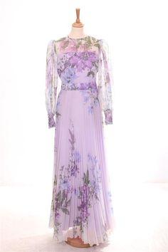 Longue Robe Voile Plissée Fleurie Lilas T36 #Robe #Vintage #Dress Mint, Victorian, Dresses, Fashion, Vintage Dress, Long Gown Dress, Dress Ideas, Gowns, Fashion Ideas