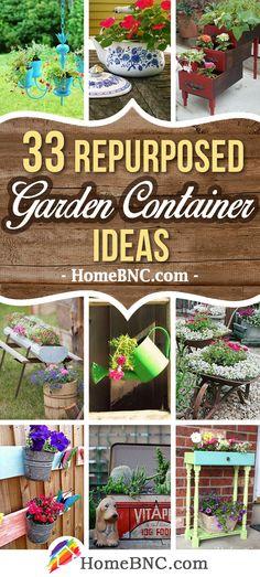 Repurposed Garden Container Ideas