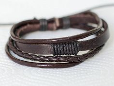 Hey, I found this really awesome Etsy listing at https://www.etsy.com/listing/164013407/252-mens-brown-leather-bracelet-leather