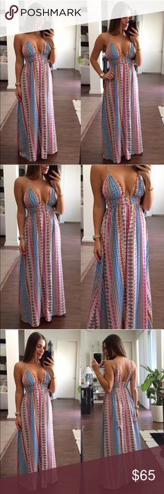 Pink & Blue Maxi Dress Brand New, never been worn. Pinks and Blues. More info to come... Dresses Maxi