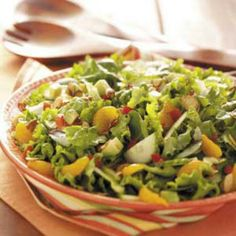 http://www.tasteofhome.com/Recipes/Almond-Avocado-Tossed-Salad Love it, try it