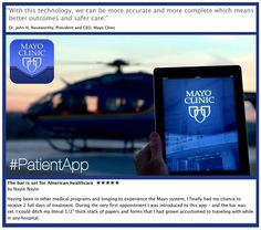 """See your test results, doctor's notes, medical history and more with the Mayo Clinic #PatientApp. Download for iOS or Android at http://mayocl.in/MayoApps. -- Gold medal winner of the 2013 Edison Award for """"Best New Product"""""""