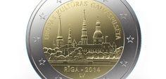 First Latvian commemorative 2 euro coin Riga - European Capital of Culture 2014