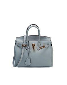 #AdoreWe LANNIU Light Blue Tote Bag Litchi Grain Leather Dual-Function - AdoreWe.com