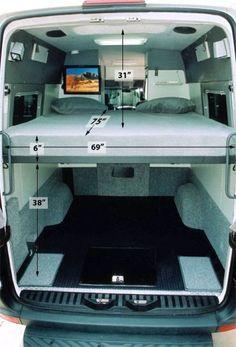 Campervan Bed Design Ideas 145