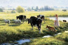 """Cow Girl"", by American artist - Robert Duncan (1952 - )"
