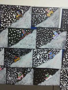 Best 11 Really like this winter artwork for kids. Winter Art Projects, Winter Project, Winter Crafts For Kids, School Art Projects, Art For Kids, Bastelarbeit Winter, Winter Kids, Winter Theme, Christmas Art