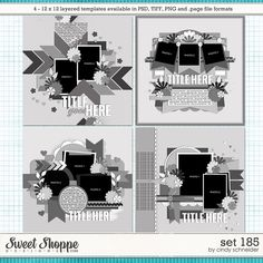 Cindy's Layered Templates - Set 185 by Cindy Schneider