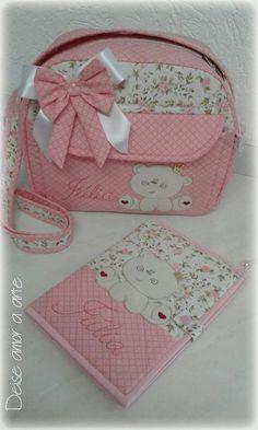Pink diaper bag, pretty little trees girly baby bag organizer, diaper purse with clear zipper pouch, diaper clutch Dipper Bag, Diy Bags No Sew, Kit Bebe, Diy Bags Purses, Patchwork Baby, Baby Kit, Fabric Bags, Baby Decor, Clutch Bag