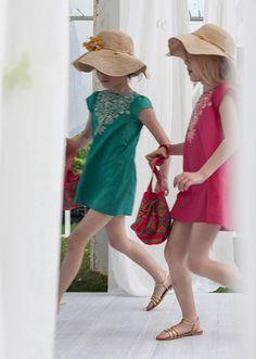 Lil dresses #summer #hat #straw