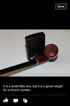 Handmade church warden pipe.