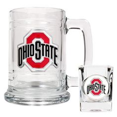 Ohio State University Buckeyes Beer Mug & Shot Glass Set