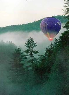 Hot air balloon ride over the Great Smoky Mountains.