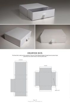 42e307ee161 Drawer Box - Packaging & Dielines: The Designer's Book of Packaging  Dielines by proteamundi