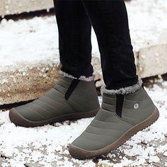 1a4531652560 Schuhchan Herren Damen Winterschuhe Schneestiefel Warm Gefütterte  Winterstiefel Stiefelette outdoor Boots,Grün 42 EU