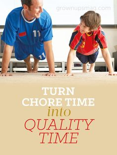 Turn Chore Time into Quality Time - Grown Ups Magazine - Make the daily grind about more than just your job. Parenting Articles, Parenting Advice, Craft Activities For Kids, Learning Activities, Positive Parenting Solutions, Preschool At Home, Play Based Learning, Parent Resources, Quality Time