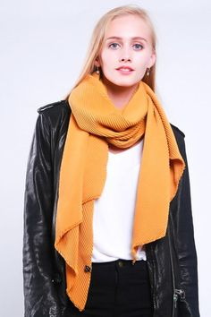 Ladies' thick and warm scarf with soft pleats, by Style Slice, in Mustard Yellow. Warm and elegant winter shawl that can be personalised with a charm or a monogram. Suitable as a gift for anniversary, birthday or any day in which to tell the woman in your life, be it a Mum, Wife, Sister or Girlfriend, that she is special. #scarf #shawl #wrap #scarves #fashion #vintage #handmade #accessories #etsy #gift #etsymntt #headwrap #ootd #bandana #pashmina #shrug