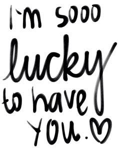 <3 so damn lucky xxo
