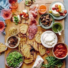 Stop slaving away in the kitchen and actually enjoy your dinner party with a Bruschetta Bar!