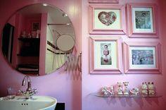 Pink bathroom & art