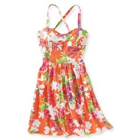 Floral Bustier Dress - Aeropostale