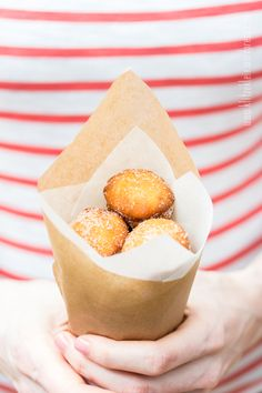 Cinnamon Sugar Donut Balls. ♥