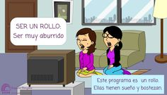 Expresión: Ser un rollo Spanish Expressions, Family Guy, Guys, Memes, Fictional Characters, Idioms, Expressionism, Jokes, Words