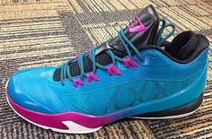 This latest colorway of the Jordan sports a predominantly teal upper with black and pink accents throughout the shoe. Jordan Basketball Shoes, Jordan Shoes, Pink Jordans, Jordan Cp3, Teal And Pink, River Walk, Pink Accents, Lebron James, All Star