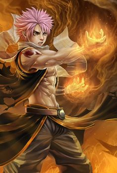 is a Fire Dragon Slayer as well as a member of the Fairy Tail Guild and Team Natsu. He originally died 400 years ago and was Zeref's younger brother, however he was revived as the most powerful Etherious: E.N.D. Fairy Tail.