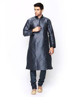 Buy Manyavar Men Blue Kurta Churidar - 596 - Apparel for Men from Manyavar at Rs. 1999