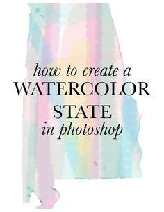 DIY | WATERCOLOR STATE
