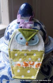 Free Scrappy Owl Ornament Pattern