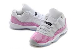 huge selection of 60a91 bfae8 Purchase Air Jordan 11 Retro Low GS Pink Snakeskin White Cherry Pink-Black  580521-