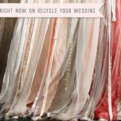 We could borrow a bunch of cloth from Jan and just drape, drape, drape.  All in your color scheme, of course.