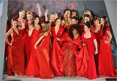 Celebrities at the Heart Truth's Red Dress show 2012. Women in red dresses.. need I say more!
