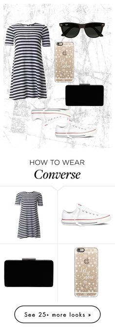 """""""summer time fun"""" by lulubella1972 on Polyvore featuring French Connection, Converse, Casetify, Ray-Ban and John Lewis"""