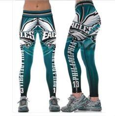751a767938d8e Legging Philadelphia Eagles No.13 printed high waist wide belt legging  S-4XL 631