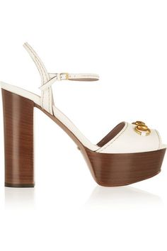 0da0805d1f37 Gucci - Horsebit-detailed leather platform sandals. Short HeelsGucci ShoesPeep  ToePumps ...