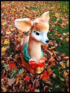 blowmold reindeer vintage