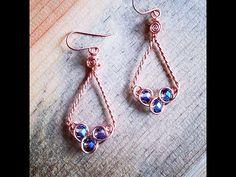 Wire Jewelry Designs, Jewelry Tools, Jewelry Making, Jewellery Maker, Diamond Earrings, Drop Earrings, Wire Wrapping, Celtic, Workshop