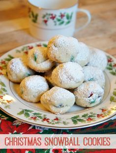 This Homemade Christmas Snowball Cookies Recipe is so easy to make and the cookies come out so cute! Try this Christmas cookies recipe for your next cookie swap!