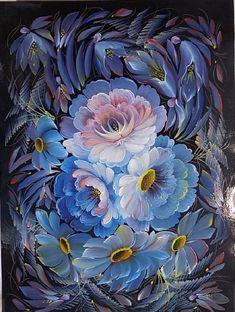 Прекрасная урало-сибирская роспись художницы Ольги Балакиной