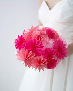 DIY Pop-Up Paper Bouquet Diy Wedding Flowers, Wedding Fabric, Wedding Paper, Diy Flowers, Fabric Flowers, Wedding Bouquets, Wedding Ideas, Flower Boquet, White Bouquets
