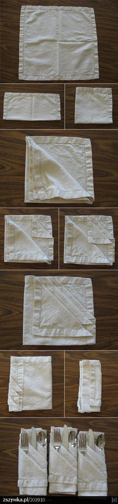 Excelente idea para colocar los cubiertos en la mesa!
