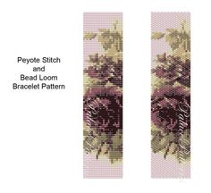 This bracelet pattern is for bead loom weaving or peyote stitch, using a Delica 11/0 seed bead palette. Both are included.  There are 10 colors.