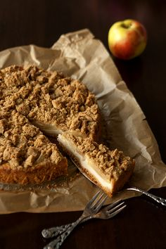 Quark-Apfelkuchen mit Streuseln ~ Christina's Catchy Cakes