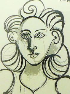 Portrait De Femme 1979 by Pablo Picasso - Lithograph on Arches Paper