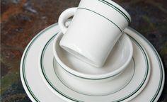 Green Band Dinnerware, Green Stripe Dinner ware, Green Band Dishes   Fishs Eddy