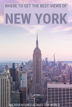 New York is a great city, and of the best things to do is actually searching for places to get the best views of New York City. This post explains where to find the best views New York and the best lookout points in town | Views of NYC | New York view | #newyork #traveltips via @clautavani via @clautavani